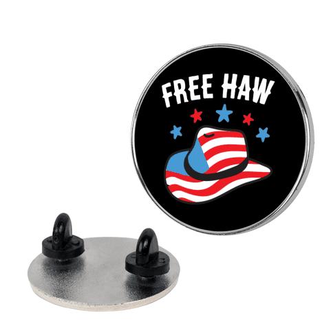 Free Haw Patriotic Cowboy Hat Pin