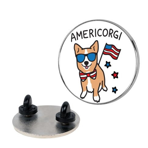 AmeriCorgi Patriotic Corgi Pin