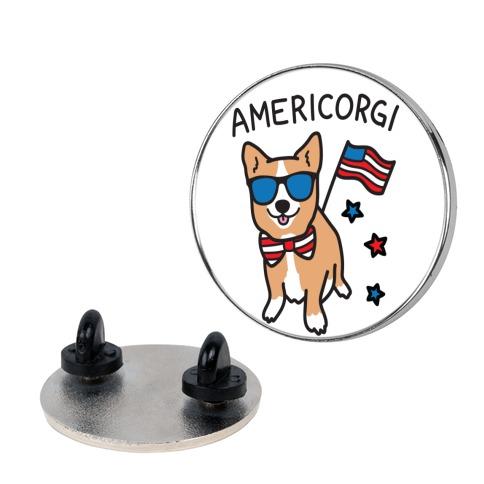 AmeriCorgi Patriotic Corgi pin