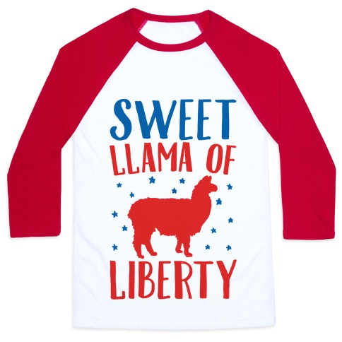 Sweet Llama of Liberty Baseball Tee