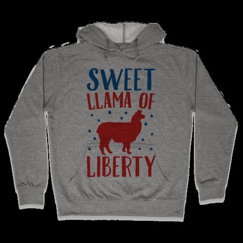 Sweet Llama of Liberty  Hooded Sweatshirt