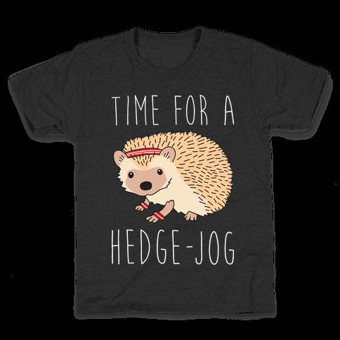 Time For A Hedge Jog Kids T-Shirt