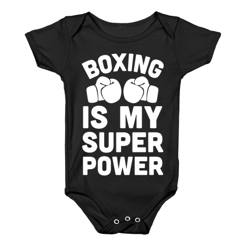 Boxing Is My Superower Baby Onesy