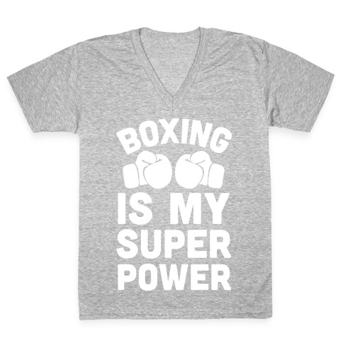 Boxing Is My Superower V-Neck Tee Shirt