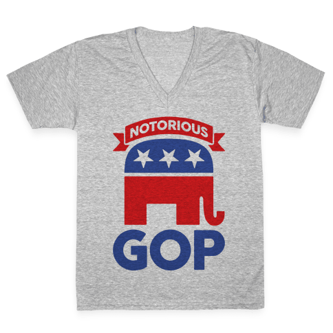 Notorious GOP V-Neck Tee Shirt