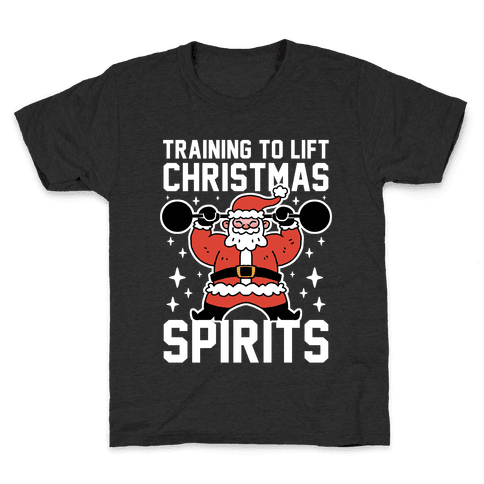 Training To Lift Christmas Spirits Kids T-Shirt