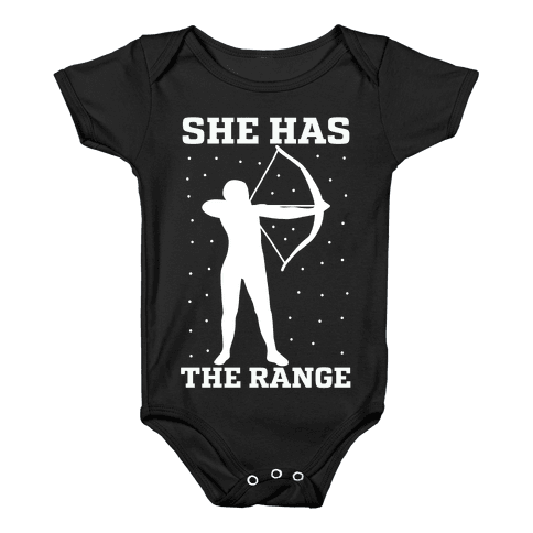 She Has the Range Baby Onesy