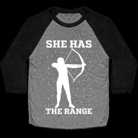 She Has the Range Baseball Tee
