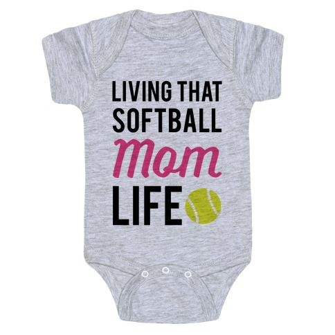 9f05eab75 Living That Softball Mom Life Baby One-Piece | Activate Apparel