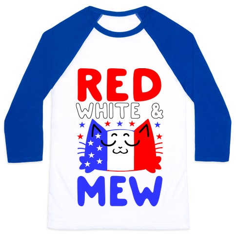 Red, White, And Mew Baseball Tee