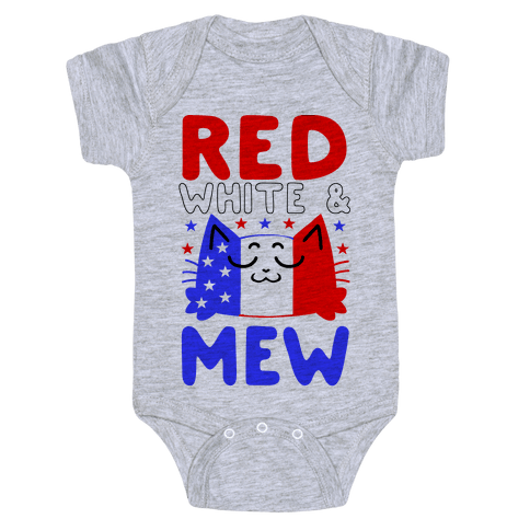 Red, White, And Mew Baby Onesy