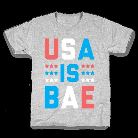 USA is BAE (White) Kids T-Shirt