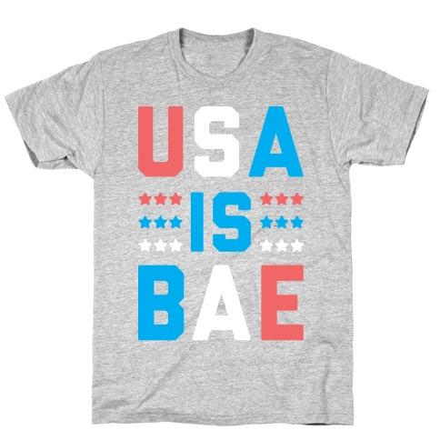 USA is BAE (White) Mens/Unisex T-Shirt