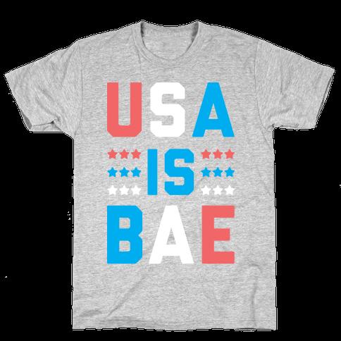 USA is BAE (White) Mens T-Shirt