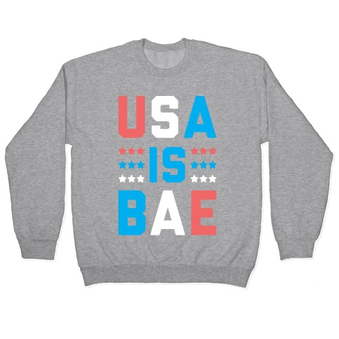 USA is BAE (White) Pullover