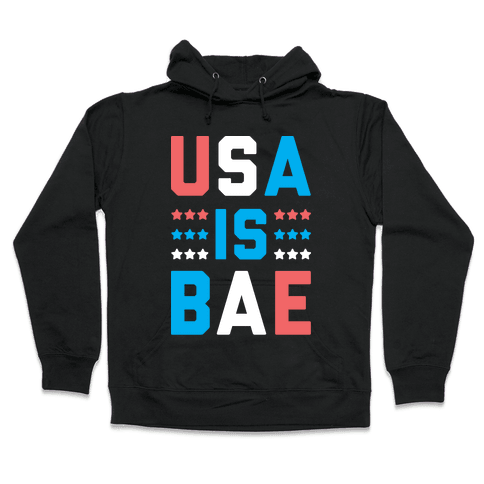 USA is BAE (White) Hooded Sweatshirt