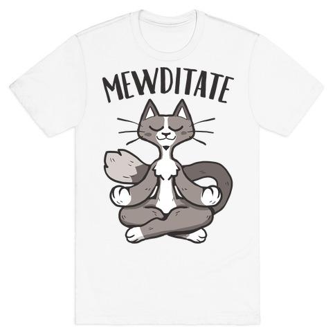 Mewditate Mens/Unisex T-Shirt