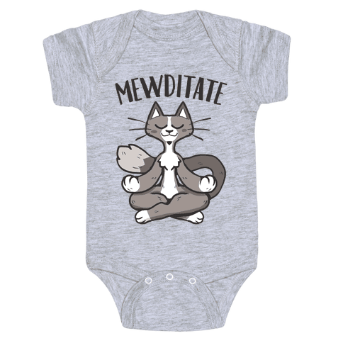 Mewditate Baby One-Piece