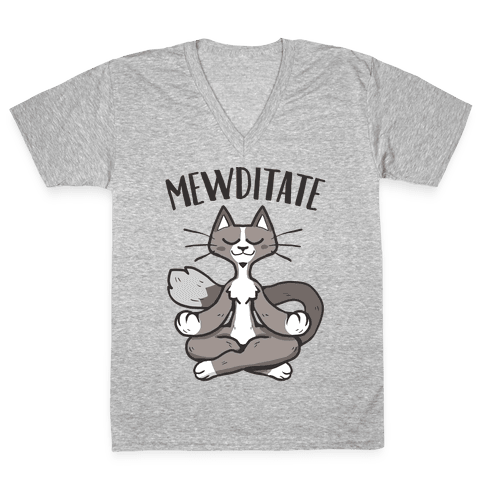 Mewditate V-Neck Tee Shirt