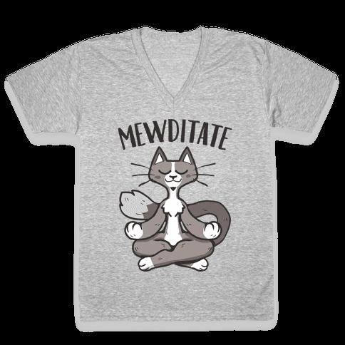 Mewditate V-Neck Tee Shirt