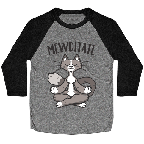 Mewditate Baseball Tee