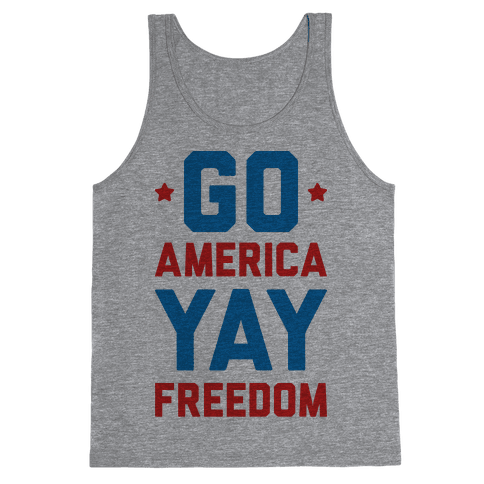 Go America Yay Freedom Tank Top
