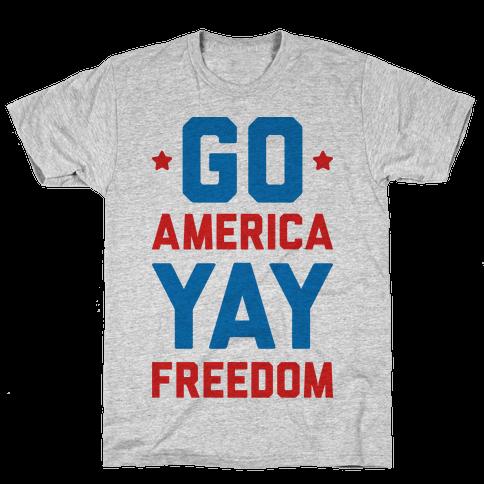 Go America Yay Freedom Mens T-Shirt