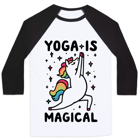 Yoga Is Magical Baseball Tee
