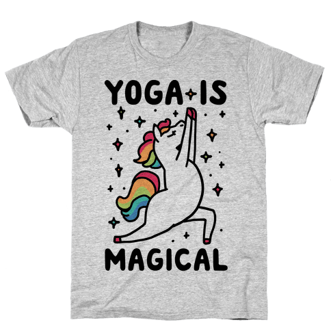 Yoga Is Magical Mens T-Shirt