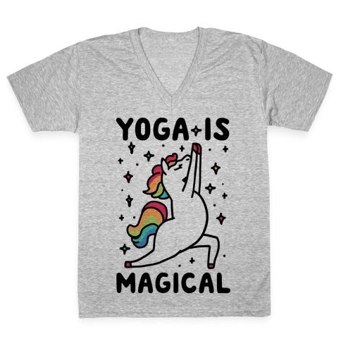 Yoga Is Magical V-Neck Tee Shirt