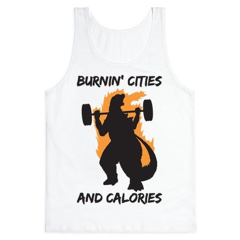 Burnin' Cities And Calories Kaiju Tank Top