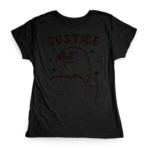 Liberty & Justice 2 (White) Womens T-Shirt