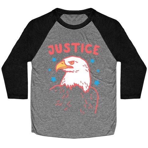 Liberty & Justice 2 (White) Baseball Tee