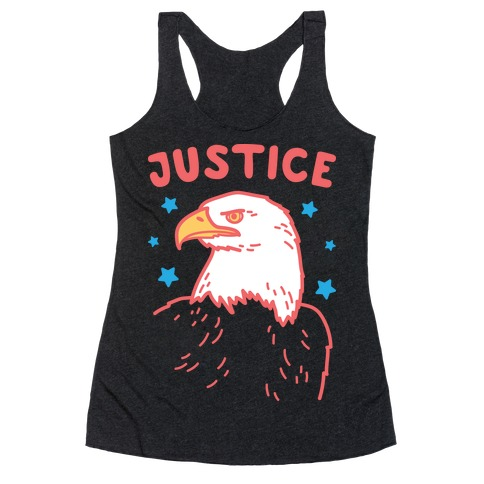 Liberty & Justice 2 (White) Racerback Tank Top