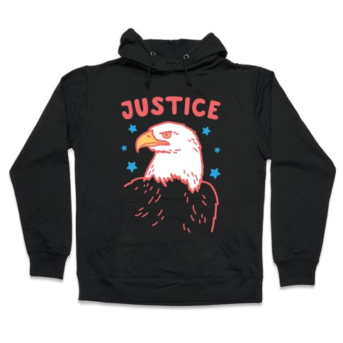 Liberty & Justice 2 (White) Hooded Sweatshirt
