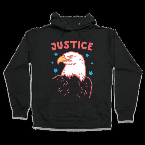 Liberty & Justice 2 (White) Hooded Sweatshirt