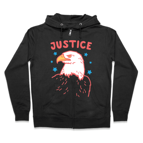 Liberty & Justice 2 (White) Zip Hoodie
