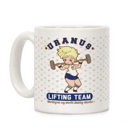Uranus Lifting Team Parody Coffee Mug