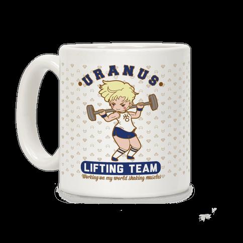 Uranus Lifting Team Parody Coffee Mug