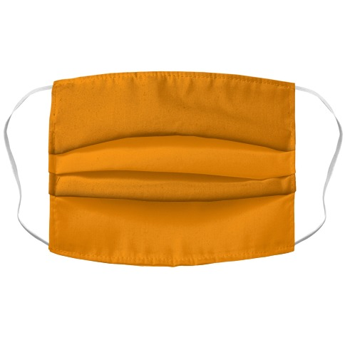 Bright Orange Accordion Face Mask