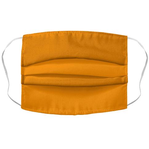 Bright Orange Accordion Face Mask