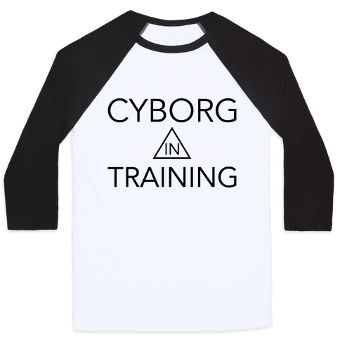 Cyborg In Training Baseball Tee