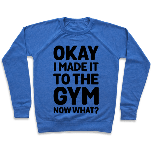 Okay I Made It To The Gym Now What Pullover