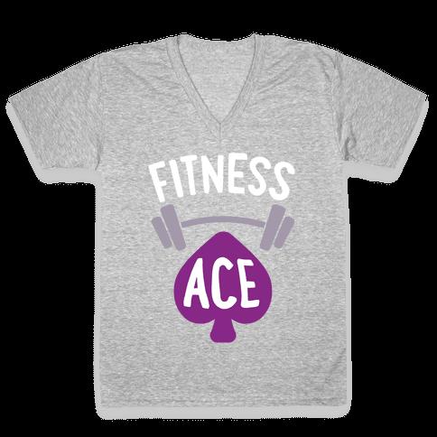 Fitness Ace V-Neck Tee Shirt