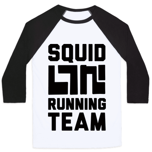 Squid Running Team Baseball Tee