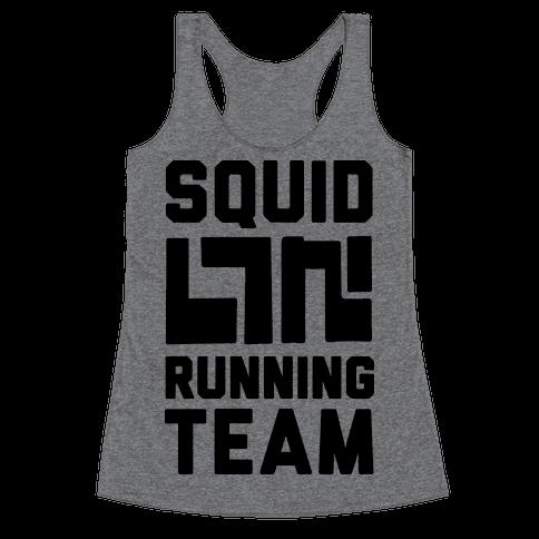 Squid Running Team Racerback Tank Top