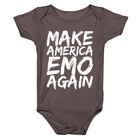 Make America Emo Again Baby One-Piece