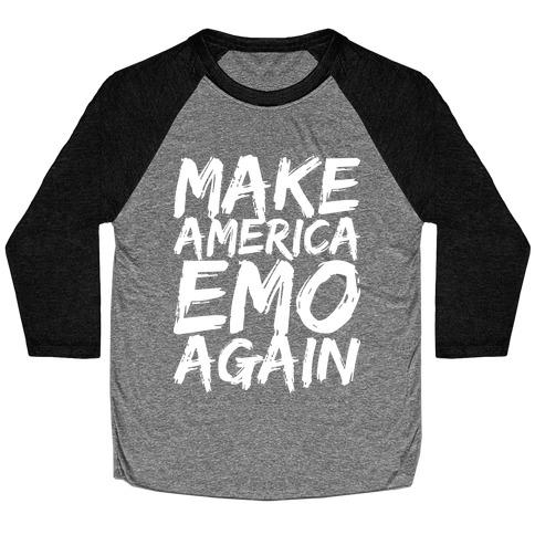 Make America Emo Again Baseball Tee