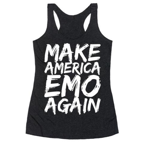 Make America Emo Again Racerback Tank Top