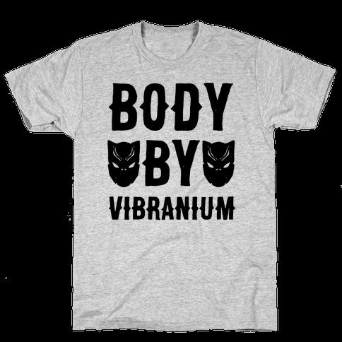 Body By Vibranium Parody Mens T-Shirt